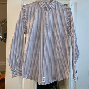 Mens striped button down shirt